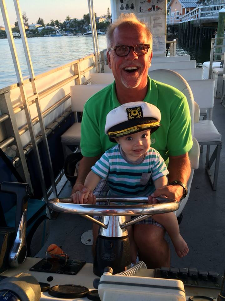 Captain Sherman with his Grandson Jackson