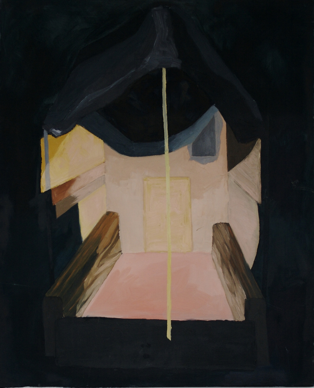 "Abandonment Constructed, 2009, oil on canvas, 24"" x 32"""