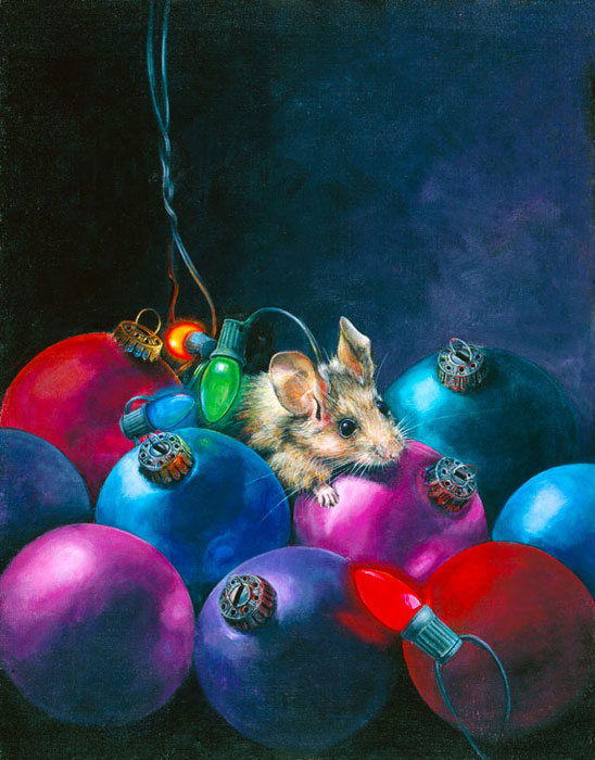 NOT A CREATURE WAS STIRRING - original sold