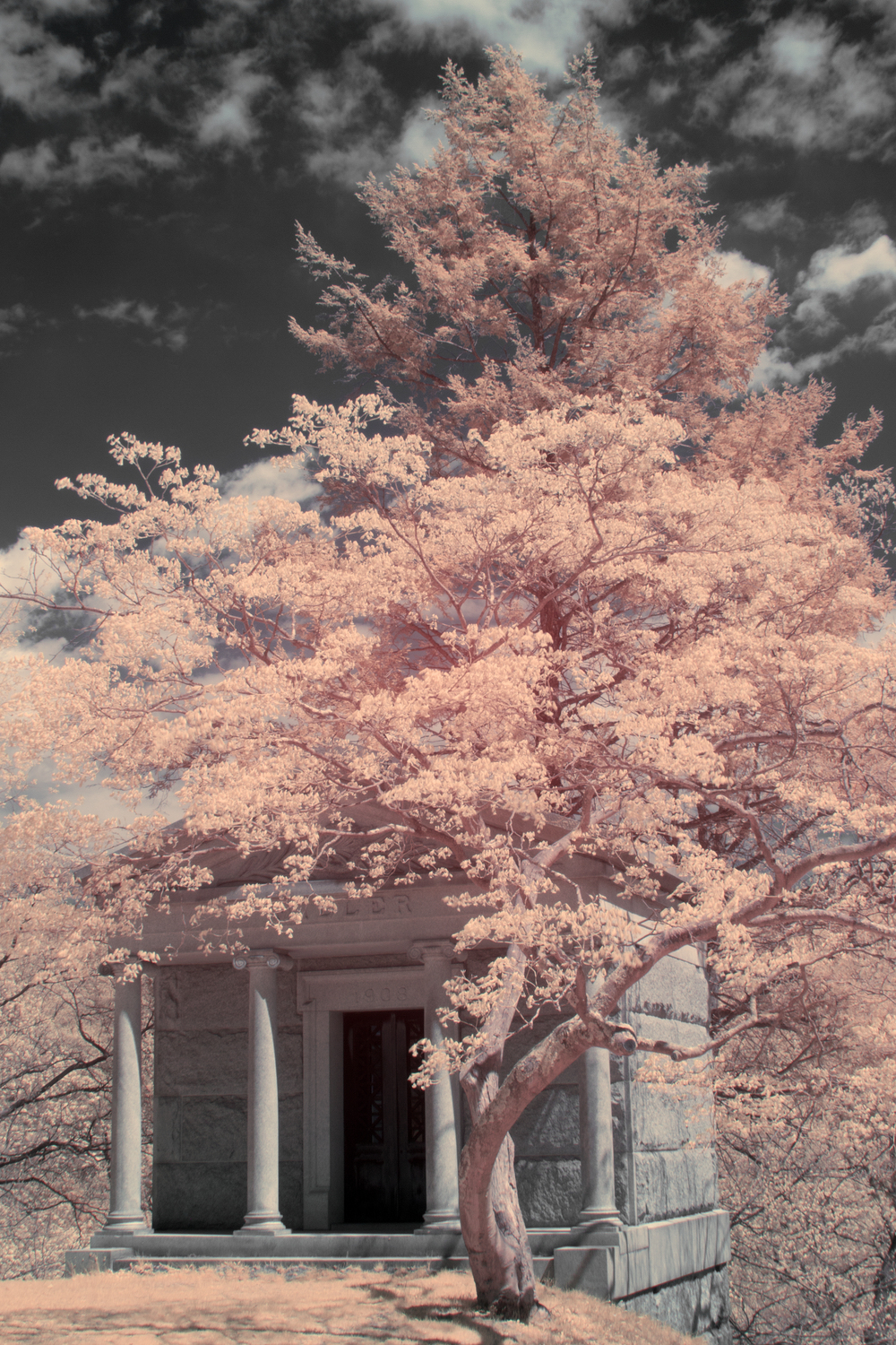Tomb in Infrared by Patrick C. Cook
