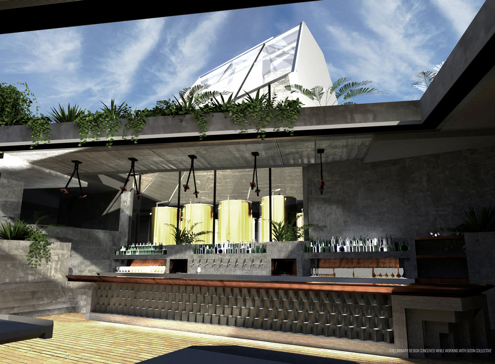 Interior Rendering - Bar Area