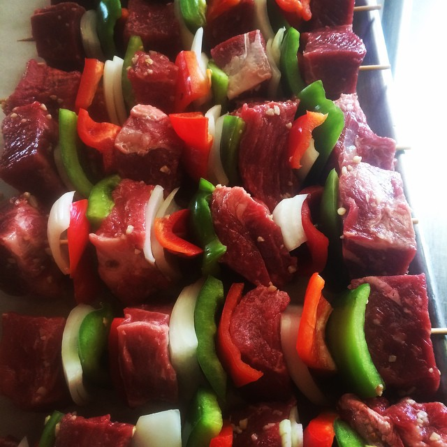 Akaushi Beef K bobs for 1000 of our closest partners... What's your caterer serving today??