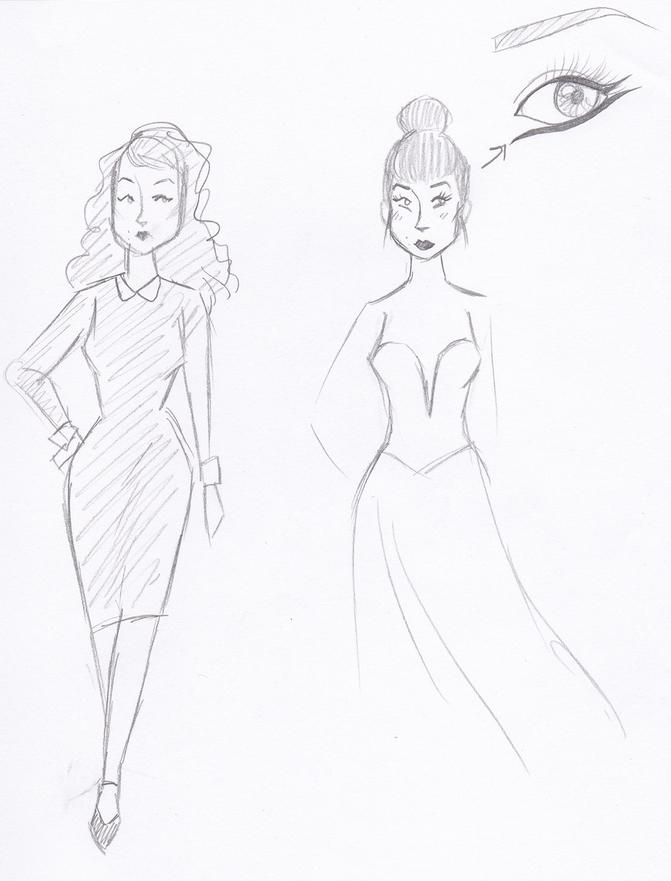 Model-Artist Trini Quinn sketches The Femme Fatale ARTlanta Tech Village.