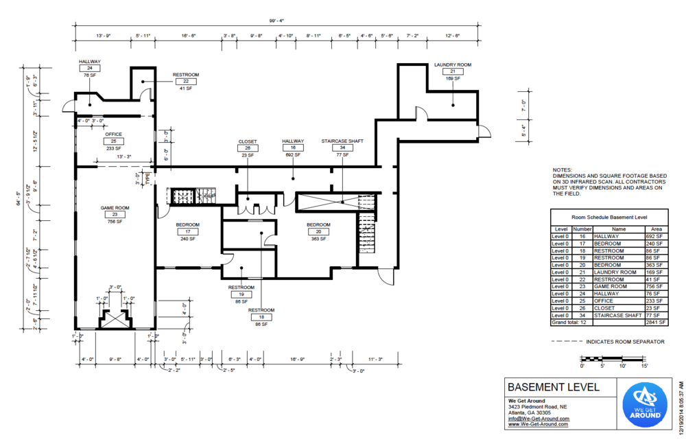 We Get Around A LUXURY HOME FloorMe Floor Plan   Sheet   A101   BASEMENT  LEVEL