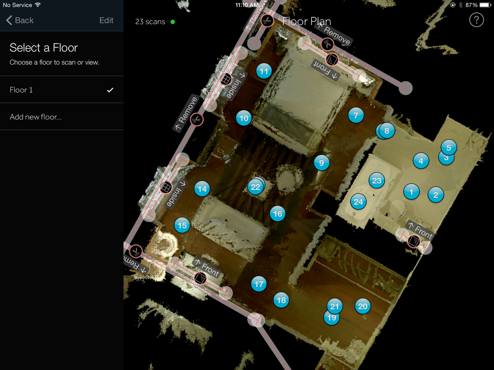 We Get Around WalkAround Mini-Map – powered by Matterport – Shows scan locations within Hudson hotel suite 1120 | Mini-Map by We Get Around Chief Photographer Dan Smigrod