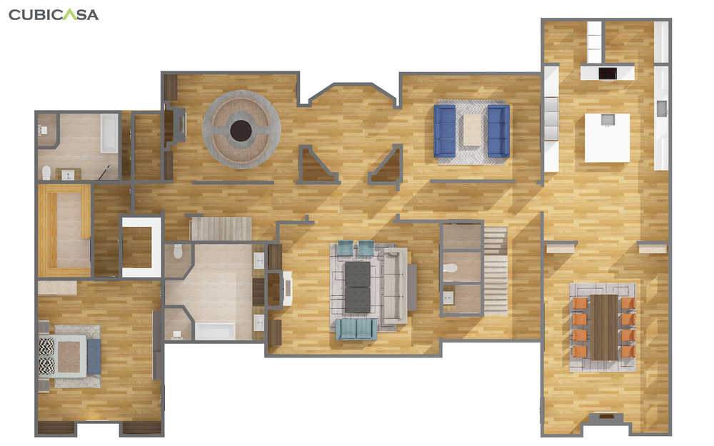 203-Main-2D Premium-Furnished-Top-No Perspective-We Get Around CubiCasa Luxury+Residential+Real+Estate+Example.jpg