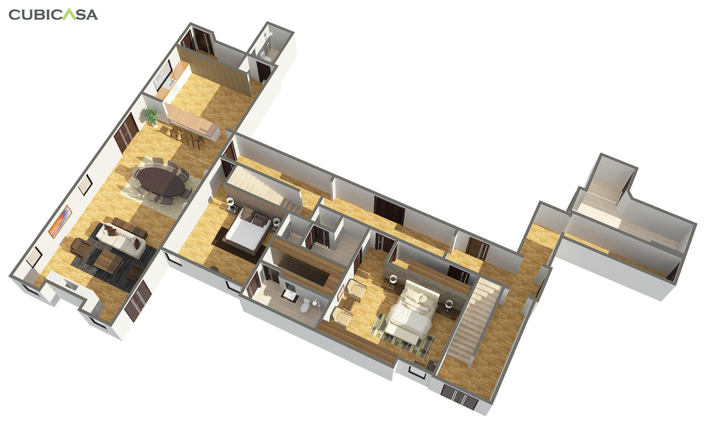 105-Basement-3D Premium-Furnished-Perspective-We Get Around CubiCasa Luxury+Residential+Real+Estate+Example.jpg
