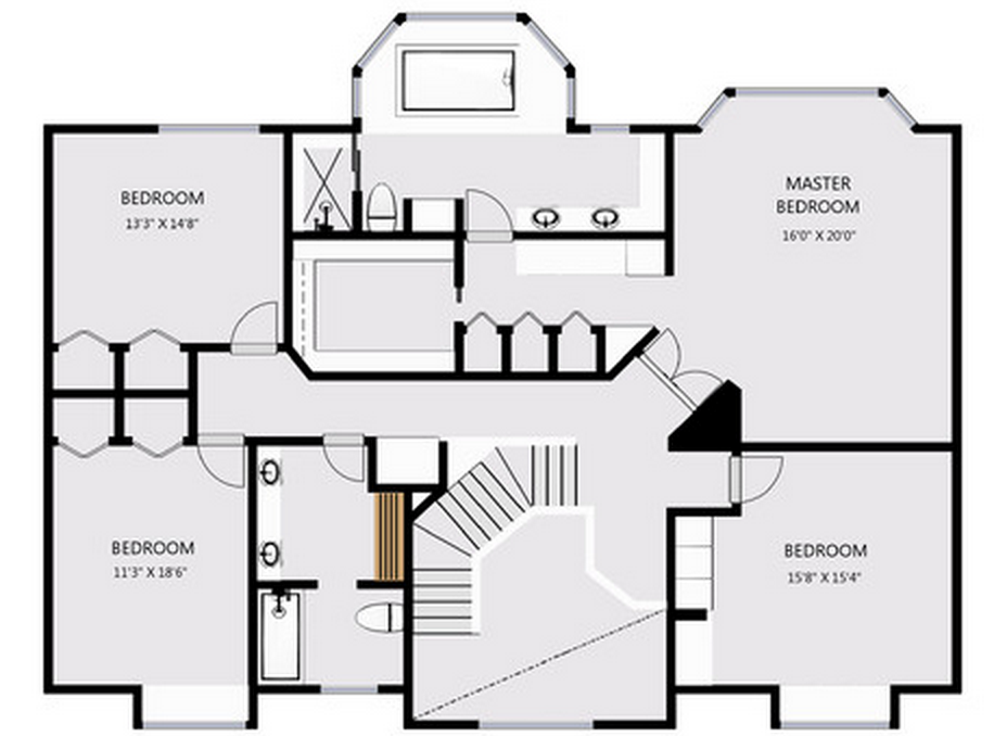 2D Floor Plans Are Included within the $0.50 sf pricing. We can add your logo too.