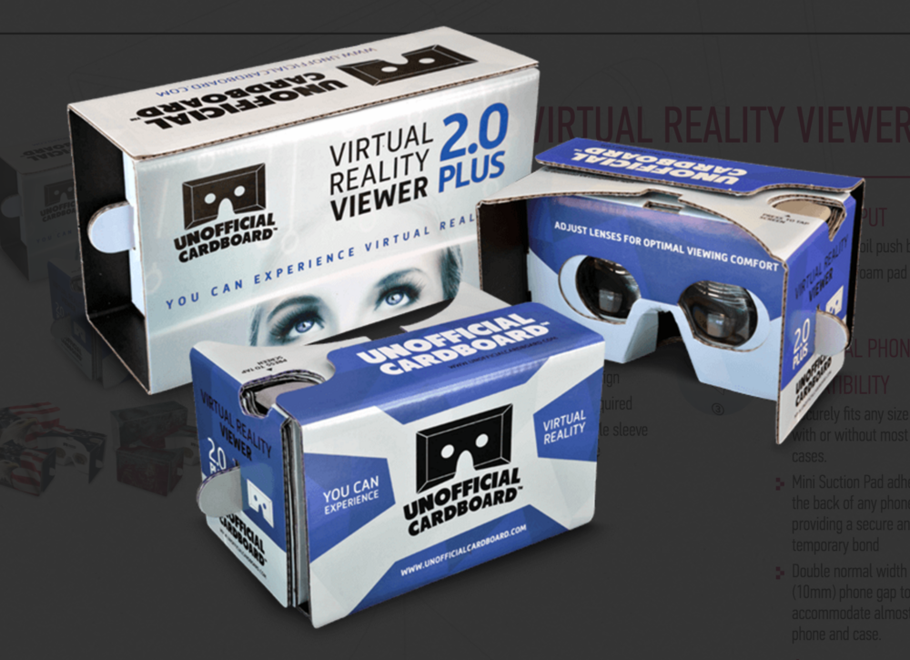 Unofficial Cardboard | to save 10 percent on orders of 20 to 50,000 Unofficial Cardboard VR Viewers, join the We Get Around Referral Network as a Basic, Standard or Premium Member