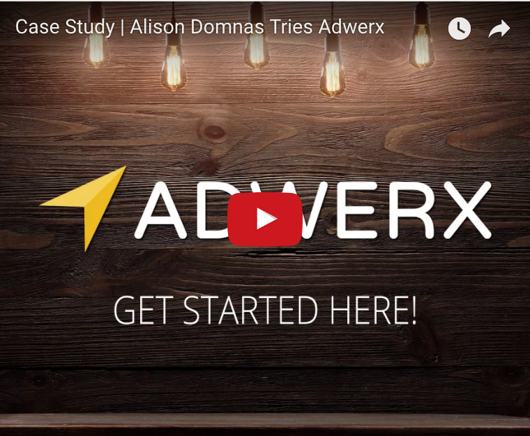 Video  (left): Real estate agent Alison was in her third year in the industry, and was doing no marketing to support her business. We brought her in and introduced her to Adwerx Brand Ads, Listing Ads, and Sphere Ads. A year later, she has seen her business grow by nearly 50%! | Source: ADWERX