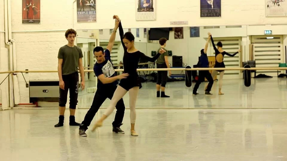 Tim Podesta with Jia Zhang and Daniele Silingardi of English National Ballet