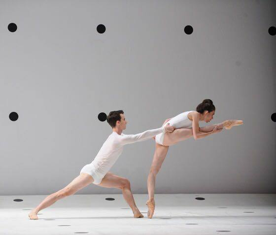 Juliet Burnett & Calvin Hannaford in Wayne McGregor's DYAD 1929  Photo: Branco Gaica