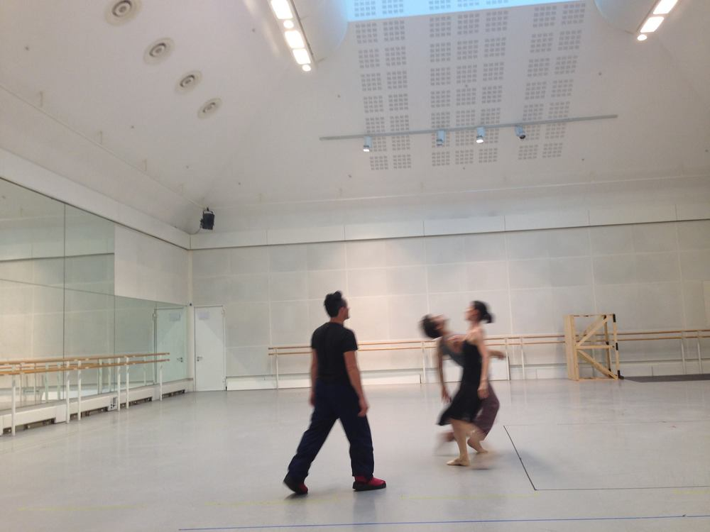 Tim Podesta rehearsing Alta Stare at the Royal Opera House London  Dancers: Mara Galeazzi and Peter Chursin