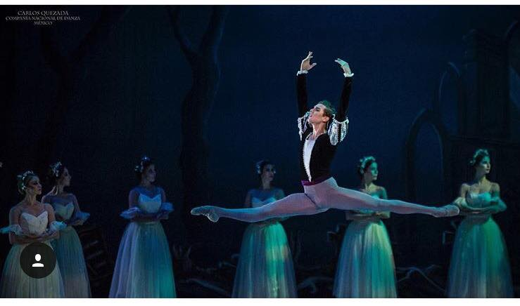 Sebastian Vinet as Albrect from Giselle.