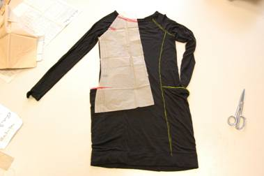 Pattern modifications to make a tunic