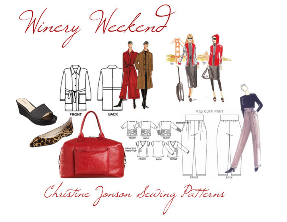 Getaway Sewing for travel DIY what to wear wine tour weekend