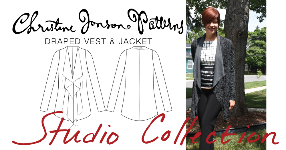 Introducing the crazy-fast, fun to sew Studio Collection Draped Vest ...
