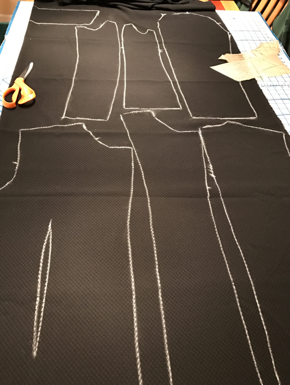 "Chalk-tracing your pattern pieces on to your fabric before cutting allows you all sorts of possibilities, including adjusting (slightly) the size by cutting on the outside of the chalk line or inside of the chalk line, as well as creating the dart ""seam"" as Christine describes in this article."