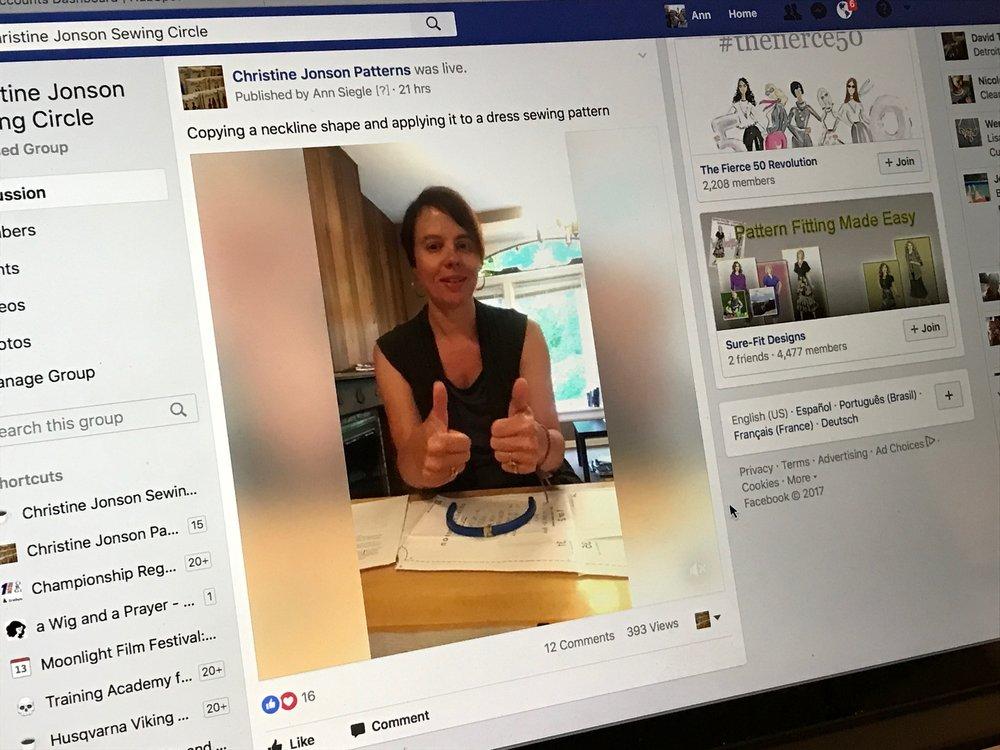 Christine Jonson Pattern Hack Neckline Video