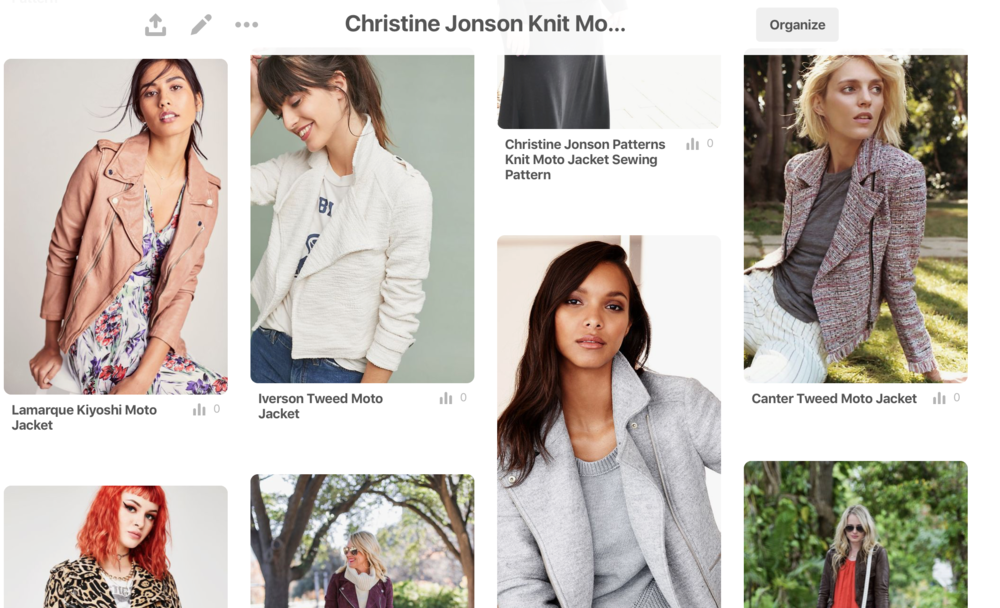 Our Moto Inspiration  Pinterest board  is active! We've posted our favorite moto jackets for inspiration for looks, colors and how to wear.