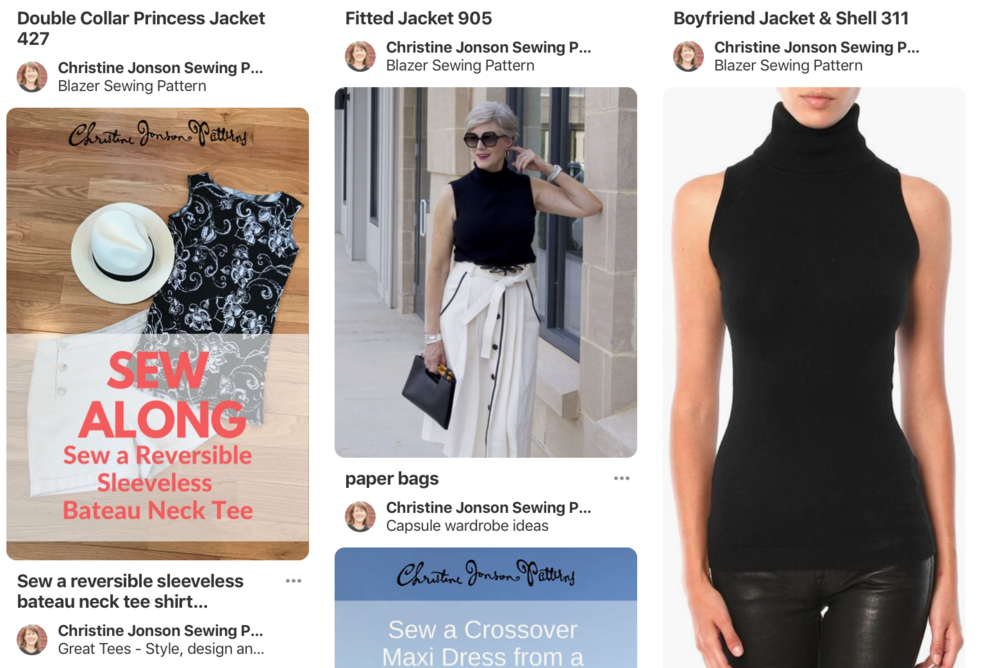 Christine Jonson Sewing Patterns Sleeveless Turtleneck Pinterest