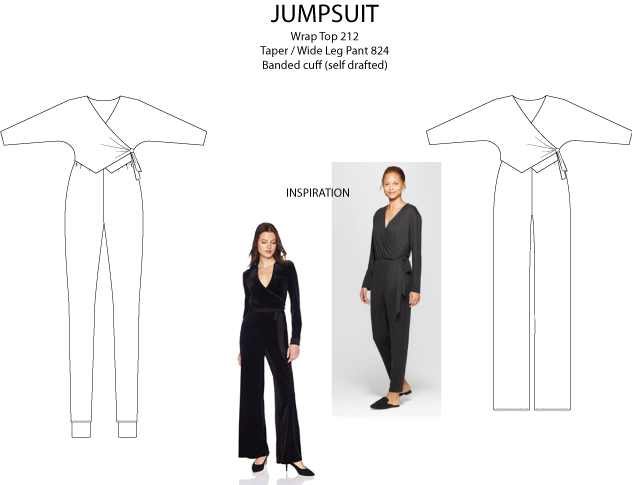 Wrap Top Sewing Pattern Wide Leg Jumpsuit Skinny Jogger Jumpsuit