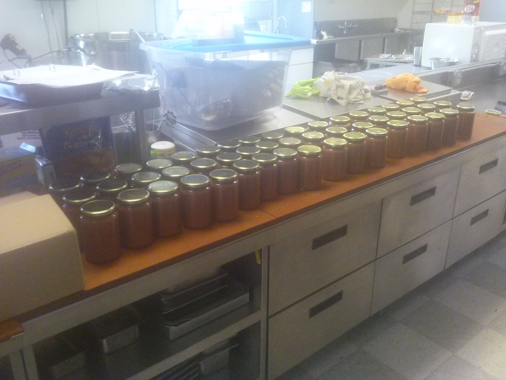 "1st batch of ""Mighty Mac"" variety applesauce, featuring our McIntosh apples"