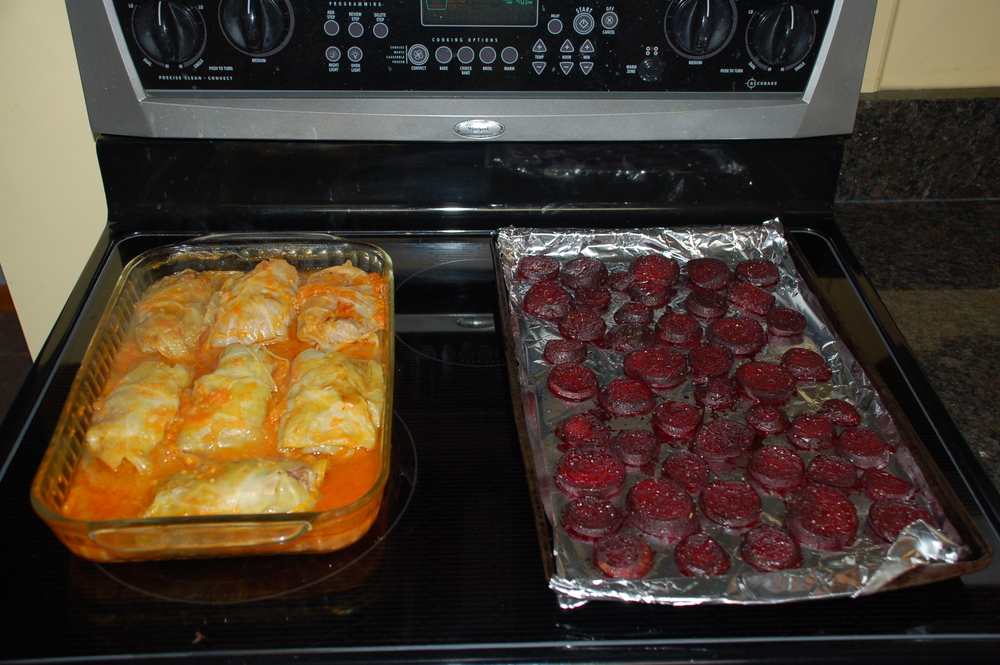 Cabbage Rolls and Roasted Beets!