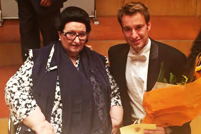 with Montserrat Caballe after the jury has made their decision
