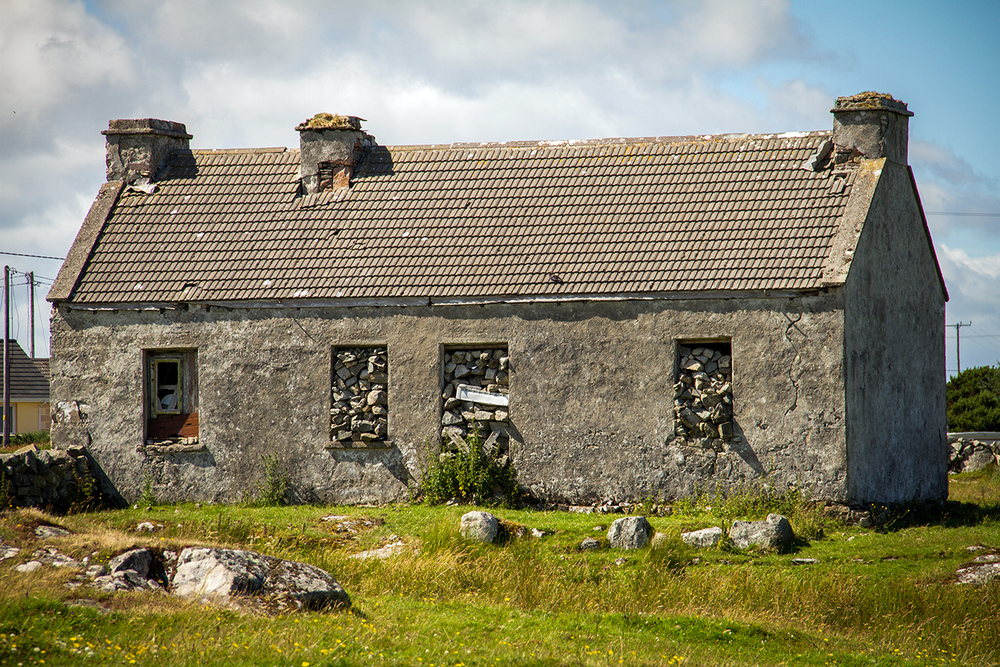 Close up of an old stone farmhouse