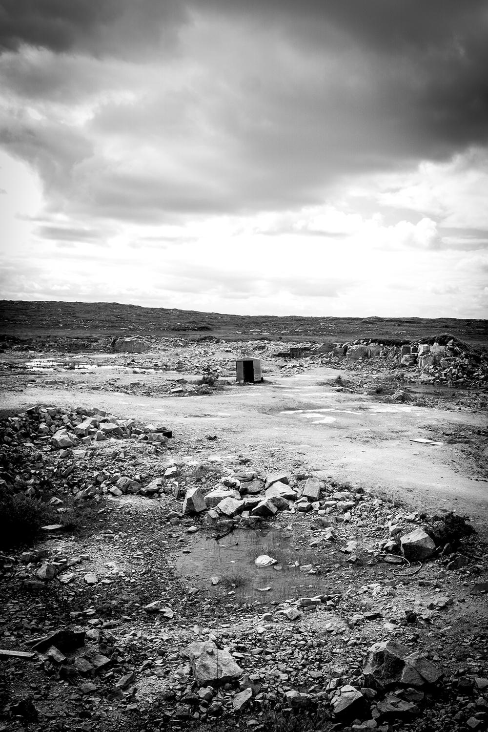 Abandoned quarry near Carraroe