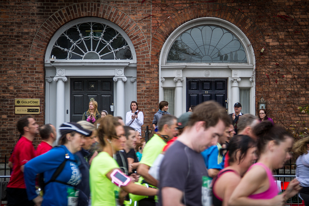 runners in the Dublin city marathon