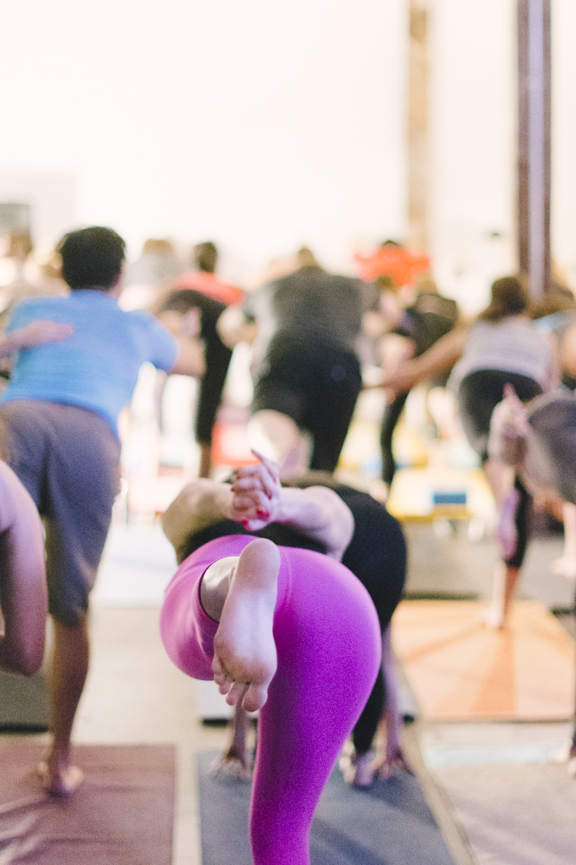 Photographed  The Social Yoga's  launch party.