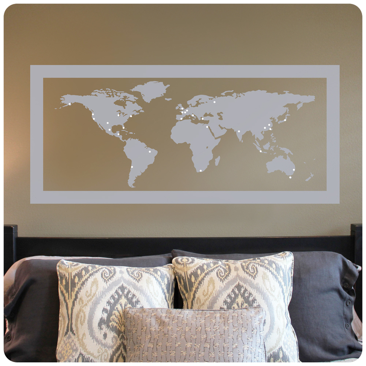 World map with travel markers decal farm world mapg gumiabroncs Images