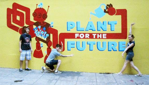 2010 | garden mural in Harlem