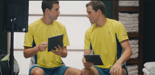 The Esurance commercial with the Bryan Brothers wasn't a behind the scenes, but you get the picture.