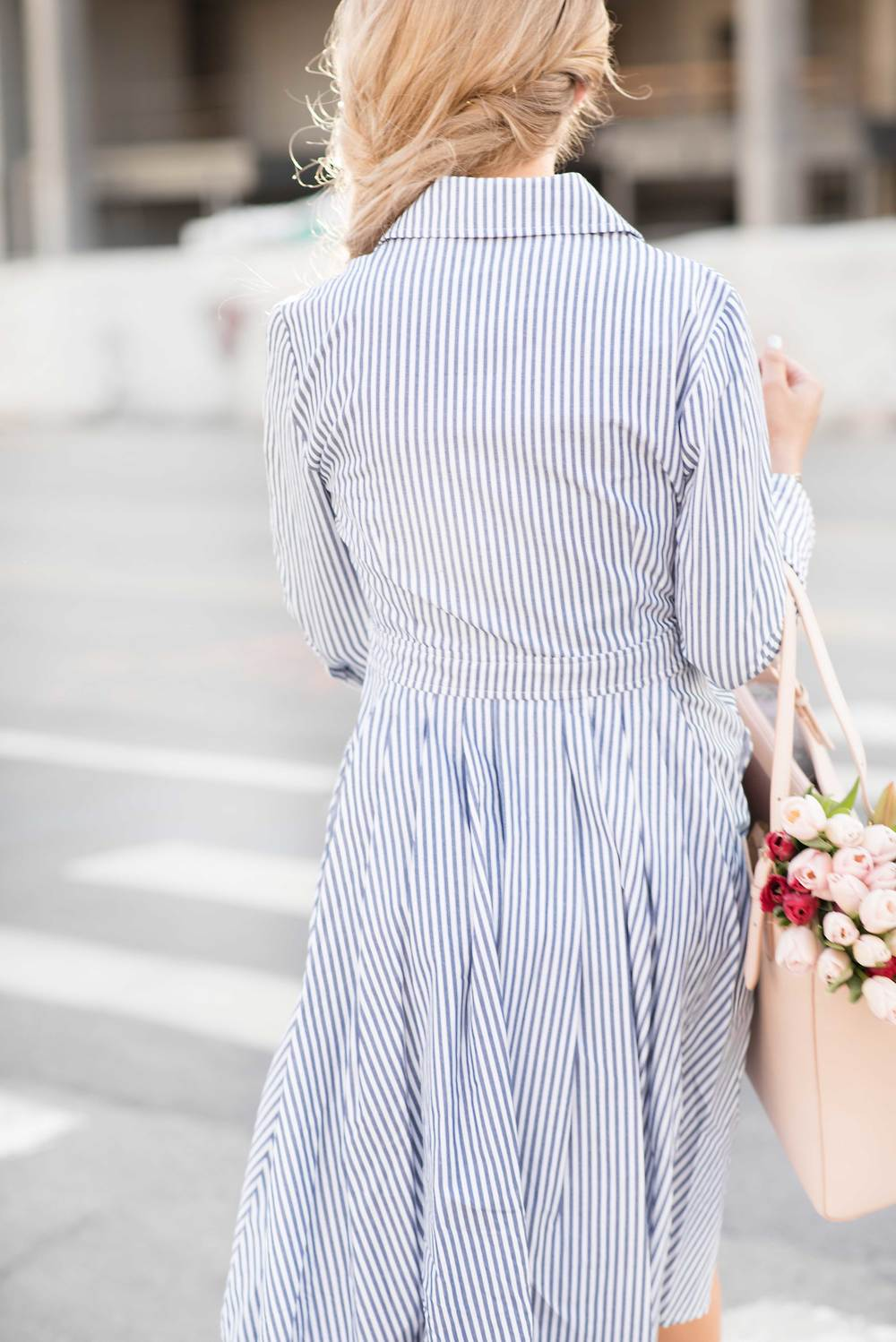 pinstripe dress on jessakae