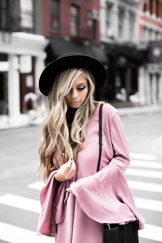 jessakae fashion week pink dress