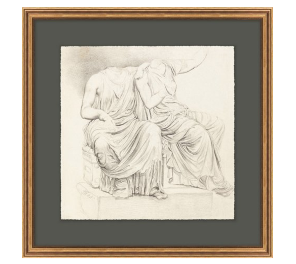 Classical Statues Drawing