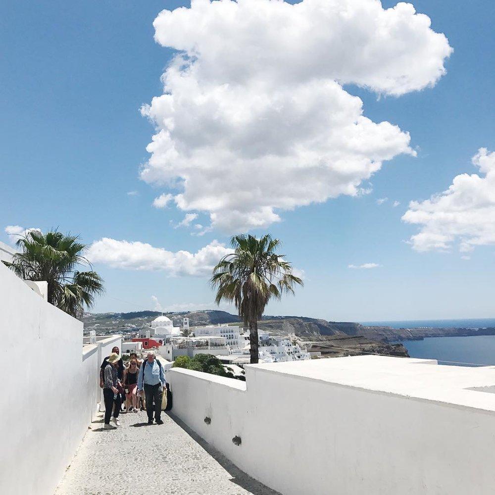 White Walls in Santorini, Greece
