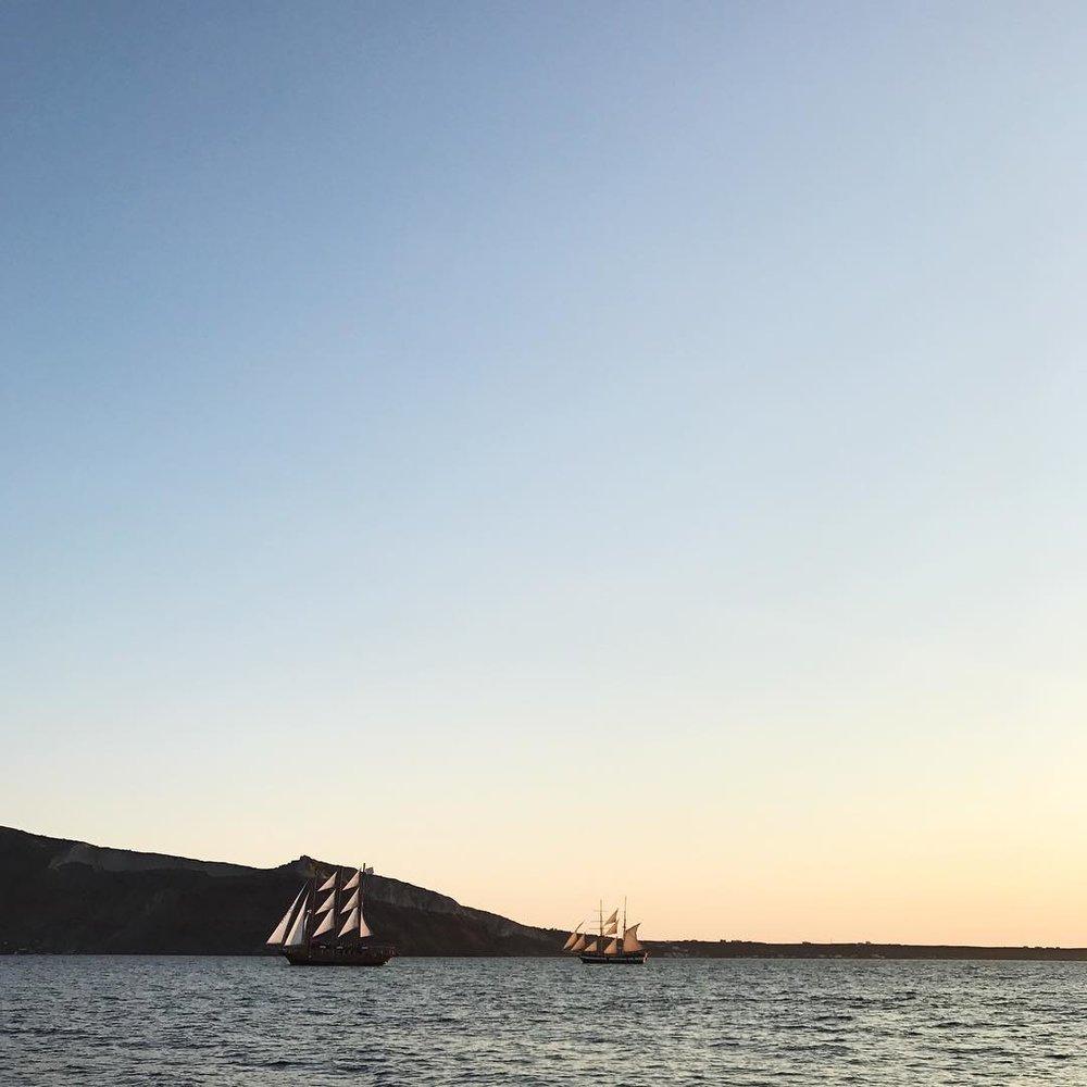 Sunset Boat Tour in Santorini, Greece