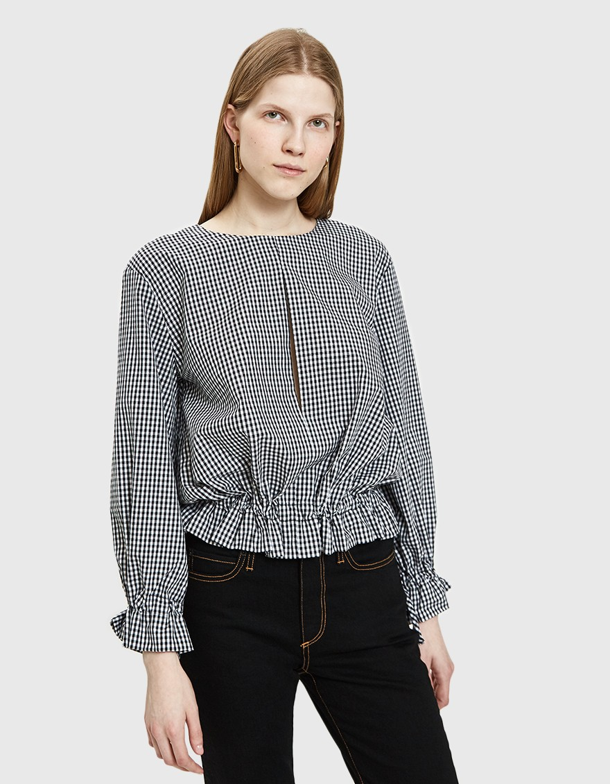 Toit Volant Oloron Top in Check ($84)