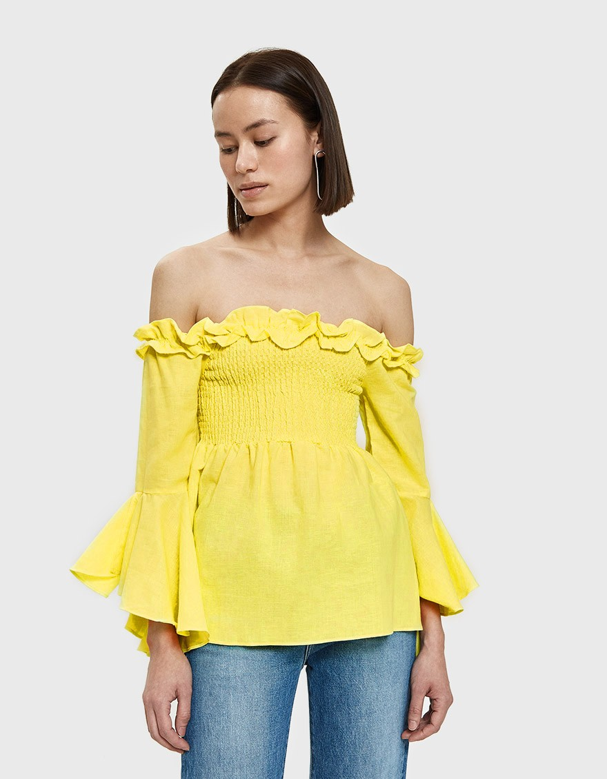 Farrow Aubine Top in Yellow ($55)