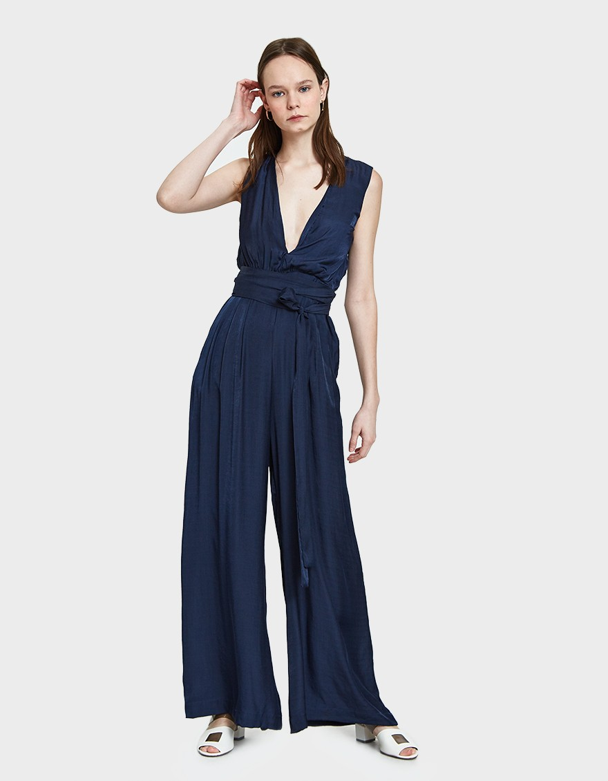 Farrow Kath Jumpsuit in Navy ($44)