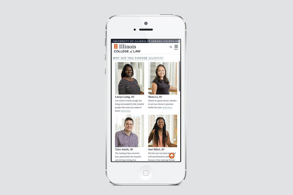 Student profiles on mobile