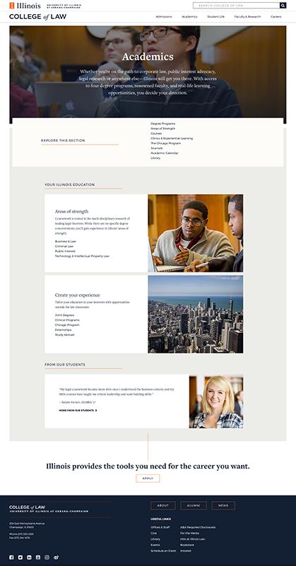 Academics page