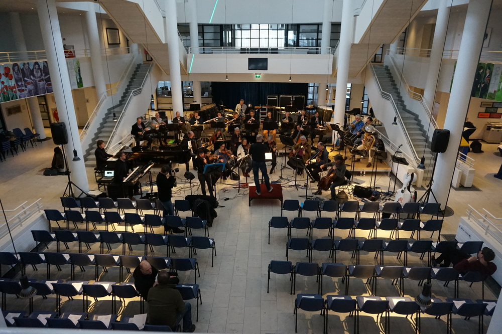 Rehearsal at Town Hall, Apeldoorn.