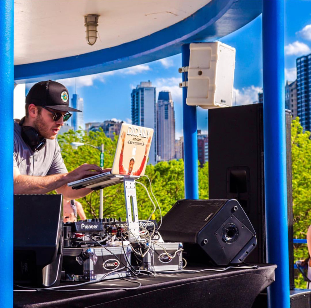 The DJ Firm's, DJ Daily, heating up Castaways Chicago last year! Photo by; DY Phoenix Photography