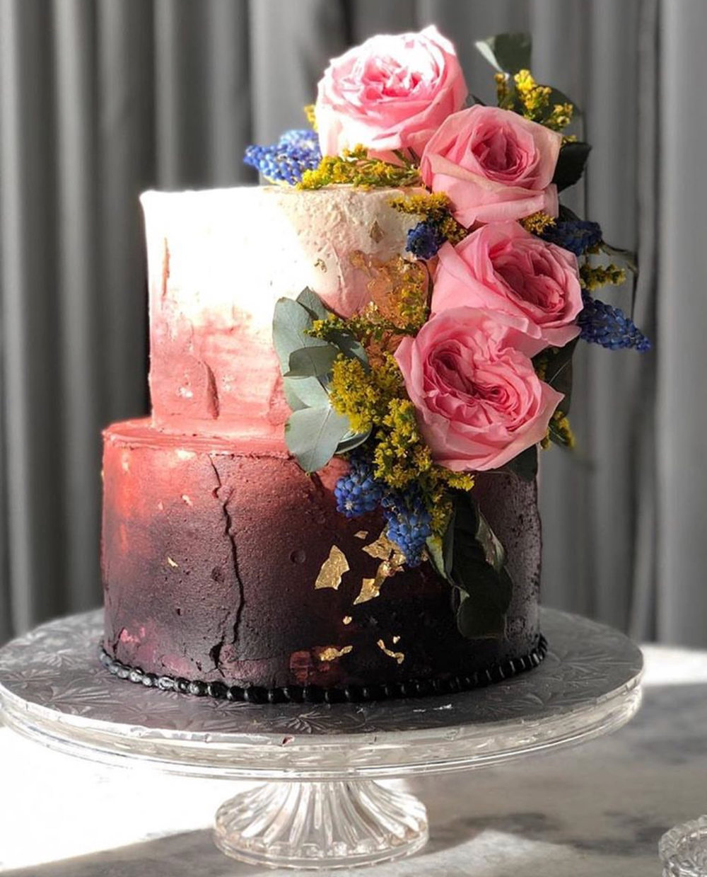 Beautiful cake created by ECBG Cake Studio Chicago!