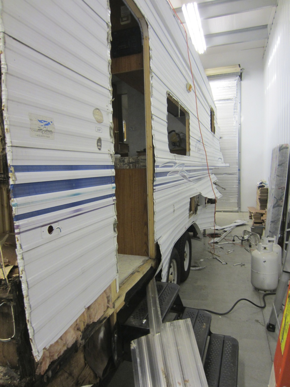 The sides of the RV come off.